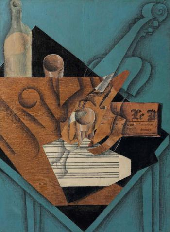 La Table Demmusicien by JUAN GRIS