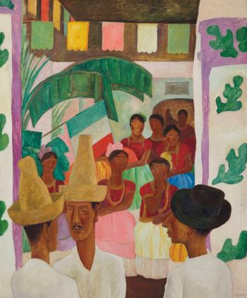 The Rivals by DIEGO RIVERA