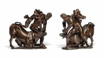 A Bronze Group of Hercules Overcoming Achelous by FERDINANDO TACCA