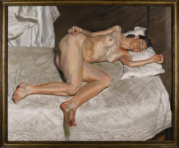 Portrait On A White Cover by LUCIAN FREUD