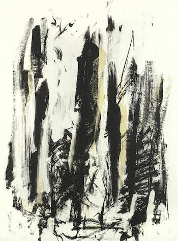 Arbres (Black And Yellow) by JOAN MITCHELL
