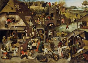 The Netherlandish Proverbs by PIETER BRUEGHEL