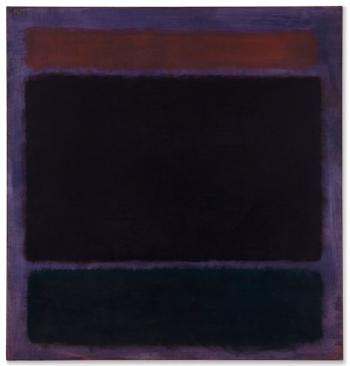 Untitled (Rust, Blacks On Plum) by MARK ROTHKO