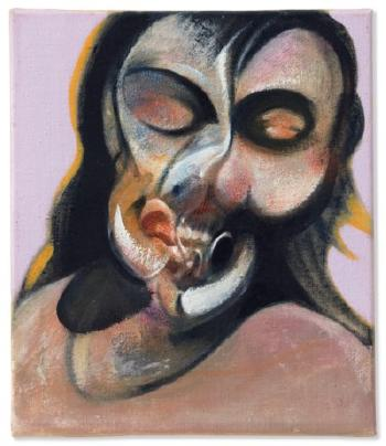 Study Of Henrietta Moraes Laughing by FRANCIS BACON