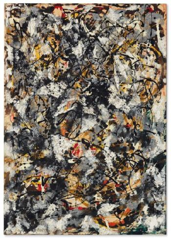 Composition With Red Strokes by JACKSON POLLOCK