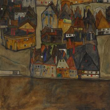 Dämmernde Stadt (Die Kleine Stadt II) (City In Twilight (The Small City II)) by EGON SCHIELE
