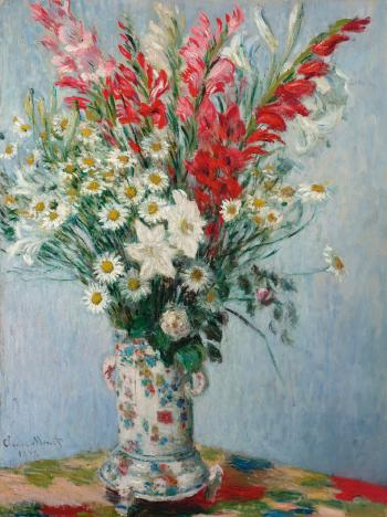 Bouquet De Glaïeuls, Lis Et Marguerites by CLAUDE MONET