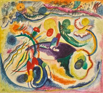 Zum Thema Jüngstes Gericht (On The Theme Of The Last Judgement) by WASSILY KANDINSKY