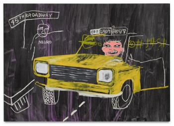 Taxi, 45th/Broadway by JEAN-MICHEL BASQUIAT