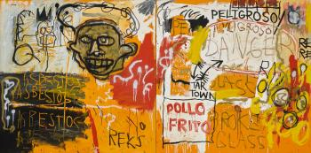 Untitled (Pollo Frito) by JEAN-MICHEL BASQUIAT