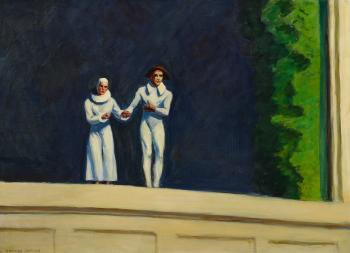 Two Comedians by EDWARD HOPPER