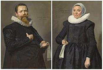 Portrait of a Gentleman, Aged 37; And Portrait of a Lady, Aged 36 by FRANS HALS