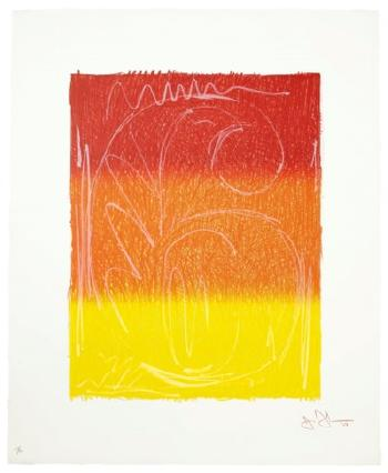 Figure 6, From Color Numeral Series by JASPER JOHNS
