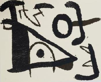 Abstract Compostion; Untitled composition by JOAN MIRO