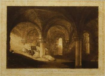 'The Crypt Of Kirkstall Abbey' by 