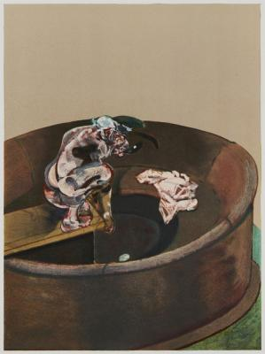 George Dyer Crouching  by FRANCIS BACON