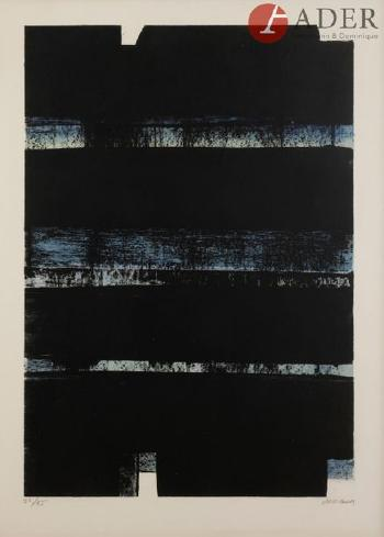 Lithographie 32 A by PIERRE SOULAGES