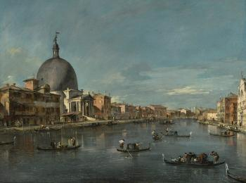 Venice, A View Of The Grand Canal With San Simeone Piccolo by  Francesco Guardi