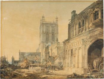 Great Malvern Priory And Gatehouse, Worcestershire by  Joseph Mallord William Turner
