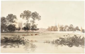 Merton College, Oxford, From The Meadows by  Joseph Mallord William Turner
