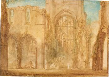 Interior Of Fountains Abbey, Yorkshire by  Joseph Mallord William Turner