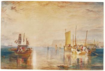 Sun-rise. Whiting Fishing At Margate by  Joseph Mallord William Turner