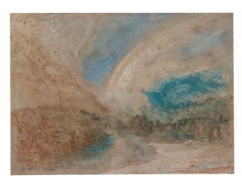 A Rainbow In A Valley, South-east France by  Joseph Mallord William Turner